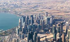 Doha, Qatar (maxunterwegs) Tags: aerial aerialimage aerialphoto arranhacu catar cityscape doha gratteciel katar luftaufnahme luftbild qr067 qatar rascacielos skyscraper
