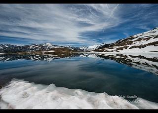 The picturesque Lac des Autannes along the Haute Route, Val d'Anniviers, Switzerland