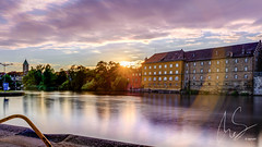 IMG_20160806_C700D_011HDR.jpg (Samoht2014) Tags: gegenlicht main schweinfurt sonnenuntergang stadt bayern deutschland