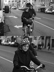 [La Mia Città][Pedala] (Urca) Tags: milano italia 2016 bicicletta pedalare ciclista ritrattostradale portrait dittico bike bicycle nikondigitale mirò biancoenero black white bn bw 8816