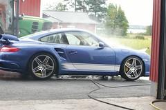 "997 turbo - 001 (Erkka Suominen) Tags: ""cobalt blau porsche"" blue ""bridge gantry"" nürburgring ""porsche 911 turbo"" ""911 ""997 ""pwr700"" ""evoms evt775"" ""evt775"" ""nürburgring bridge pccb"