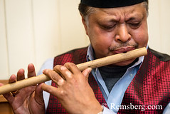 Nepalese man playing a traditional flute (Remsberg Photos) Tags: flute music nepal tradition man oneperson play hobby woodwind instrument indoors baltimore maryland usa