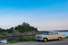 Ocean drive (Ben De La Rosa) Tags: nikond3300 wideangle diffusedlight summer newengland newport mercedesbenz classic nostalgia coastal