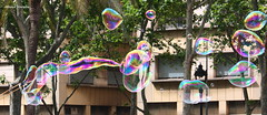 Pompas de jabn (Manu Varela - Fotografa Aeronutica y algo ms) Tags: pompas jabn artstico calle street callejero globos volar colores arcoiris transparente