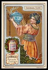 Liebig Tradecard S764 - Serving Soup (cigcardpix) Tags: tradecards advertising ephemera vintage liebig chromo artnouveau