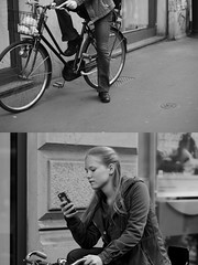 [La Mia Città][Pedala] (Urca) Tags: milano italia 2016 bicicletta pedalare ciclista ritrattostradale portrait dittico bike bicycle nikondigitale mirò biancoenero blackandwhite bn bw 88935