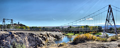 Sept 30 2016 - Swinging foot bridge over the Big Horn River (lazy_photog) Tags: lazy photog elliott photography hot springs state park thermopolis wyoming terraces bighorn river foot bridge swinging 093016hotspringsstatepark