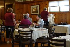 Carnforth Restaurant, Victor Iowa 4-17-15 02 (anothertom) Tags: people restaurant iowa victor tables waitress patrons carnforthinnsupperclub sonyrx100ii