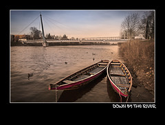 down by the river (jochenlorenz_photografic) Tags: bridge nature water photoshop river boot boat spring nikon view riverside outdoor explore capture brcke fluss traun frhling steg wels zille cs5 photopassion nikond90