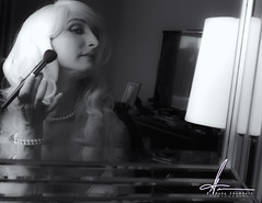 Reflection of Veronica (E. Gene Chambers Photography) Tags: blackandwhite reflection canon model glamour monochromatic veronica 50d canon50d egcphotography egenechambers reflectionofveronica