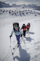 Skiers climbing the slopes behind Kummiut in East Greenland (@ilovegreenland) Tags: snow skiing arctic adventure commercial greenland polar img skitouring randonne 2015 randonnee adventuretravel eastgreenland kuummiut icelandicmountainguides greenlandcom kommerciel bymadspihl destinationeastgreenland kuummiit limitedcommerciallicense begrnsetkommerciellicens pioneeringnation beapioneer