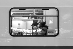 Thru the tram window (Olderhvit) Tags: street blackandwhite göteborg gothenburg streetphotography tram streetphoto goteborg spårvagn 2015 img1420 gatufoto gatufotografi framingthestreet olderhvit
