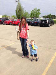"Walking in the Parking Lot with Mommy • <a style=""font-size:0.8em;"" href=""http://www.flickr.com/photos/109120354@N07/17213021603/"" target=""_blank"">View on Flickr</a>"