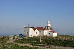 Lighthouse (Efkan Sinan) Tags: sunset panorama lighthouse trkiye turquie trkei tr liman gnbatm turchia denizfeneri tekirda trakya maramaraerelisi