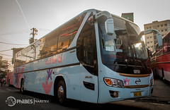 Asul. (Naretev.) Tags: blue bus coach florida deluxe super airconditioned restroom hino equipped gv grandez p11c rm2p gd50