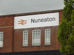 Nuneaton Station - sign (ell brown) Tags: greatbritain england sign unitedkingdom crosscountry warwickshire nuneaton westcoastmainline nuneatonstation londonmidland crosscountrytrains nuneatonbedworth boroughofnuneatonbedworth