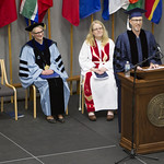 "<b>Commencement_2015_10</b><br/> Commencement speaker Mike Danforth, producer of NPR's hit radio show ""Wait Wait Don't Tell Me"" has the audience rolling in their seats with his witty, yet insightful, commencement address. Photo by Aaron Lurth<a href=""http://farm9.static.flickr.com/8763/17861442059_b532fa52ba_o.jpg"" title=""High res"">∝</a>"