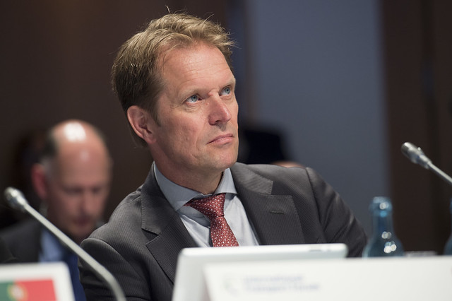 Jan-Bert Dijkstra attending the Open Ministerial Session