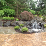 """stone patio, boulders, rock retaining wall, waterfall, creek, stream, patio, landscape, landscaping <a style=""""margin-left:10px; font-size:0.8em;"""" href=""""http://www.flickr.com/photos/117326093@N05/18330856916/"""" target=""""_blank"""">@flickr</a>"""
