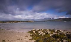Ord - Isle of Skye (dawnlb83) Tags: ord isleofskye scotland scottishcoastline highlands mountains redcuillin cuillin shoreline rainbow seascape landscape rocks sand summer bluesky longexposure 10stopfilter ndfilter daytimelongexposure
