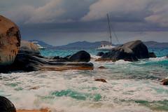 A Stormy Afternoon at Virgin Gorda (Brian 104) Tags: bvi virgin gorda beach rocks clouds stormy sailboats