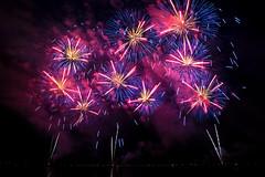 Neon Patriotism (jeff_a_goldberg) Tags: night fireworks firework milwaukee independenceday milwaukeelakefront wisconsin unitedstates us
