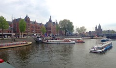 Amsterdam (mary s b) Tags: amsterdam central station canal centraal tourboat tour