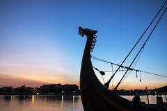 Tall Ship (DJ Wolfman) Tags: baycitytallship tallship michigan michiganfavorites micro43 sunset blue orange sillotte mascot sailboats water baycity olympus olympusomd