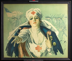 1918 Red Cross Appeal (Madison Historical Society) Tags: madisonhistoricalsociety madisonhistory mhs madison connecticut conn ct country usa connecticutscenes people poster old historical history museum military worldwari wwi firstworldwar greatwar leeacademy nikond600 nikon d600 bobgundersen interesting image inside indoor interior picture photo shoreline scene scenes redcross portrait