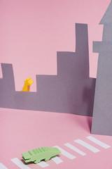 (deadwildcat.) Tags: eraser city crosswalk crocodile alligator giraffe outline pink