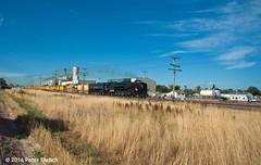 UNION PACIFIC--844 at Platteville, CO NB. 2 of 2 (milantram) Tags: unionpacific unionpacificsteam up844 denverpostfrontierdaystrain bigsteamlocos steamlocomotives steam passengertrains trains
