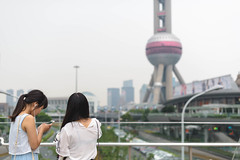 Texting (Phillies182) Tags: portrait girl asia belgium recklessphotography china shanghai airshows hongkongpic lujiazui orientalpearltower pudong