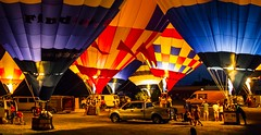Under the glow (Notkalvin) Tags: people festival night truck balloons evening glow michigan balloon hotairballoon howell mikekline notkalvin notkalvinphotography