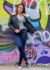 Serie Rockfitis - Claudia 06 (Nitideces de Miguel Emele) Tags: portrait people woman sexy girl beauty fashion mujer model glamour chica gente retrato moda modelo sensual fujifilm belleza elegance elegancia xt1 xf1655