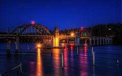 Bridge Across The Siusilaw (gr8fulted54) Tags: water bridge tonemapped hdr photomatix on1 nikon d7100 night