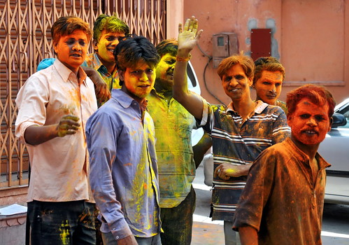 India - Rajasthan - Jaipur - Young People At Holi Festival - 33