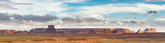Departing Desert Storm (Ron Drew) Tags: arizona panorama storm southwest clouds utah nikon desert mesa lakepowell d800 glencanyonnationalrecreationarea pageaz
