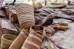 Katherine Gorge Aborigional basket weaving