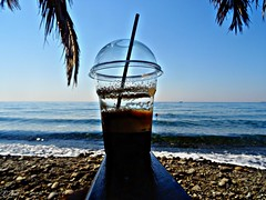 Fredo espresso..fygokentros beach bar..Lesbos Greece (panoskaralis) Tags: coffe caffe cafe beach relax sea seaside swimm swimming sun summer greeksummer summerholidays holidays greece greek hellas aegeansea lesbos lesvosisland island