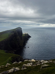neist point, isle of skye (violica) Tags: unitedkingdom regnounito scotland scozia highlands skye isleofskye neistpoint cliffs scogliere faro lighthouse