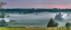 A few minutes later (virgil martin) Tags: dawn fog mist panorama landscape river grandriver wellingtoncounty ontario canada olympusomdem5 oloneo microsoftice gimp