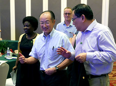 World Bank Group President Jim Yong Kim discusses healthcare reform with Managing Director Shaolin Yang in Tianchang City, Anhui, China. (World Bank Photo Collection) Tags: china asia medical health delivery service care worldbank eastasia jimkim jimyongkim