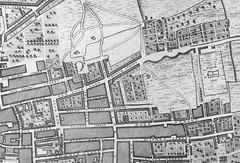 Brick Lane and Bethnal Green, from Rocque's map of London of 1746 (image courtesy of Bishopsgate Library). The setting for by forthcoming book, 'The Boss of Bethnal Green: Joseph Merceron, the Godfather of Regency London'', published in November 2016... (HistoryLondon) Tags: georgian regency godfather huguenot streetplan 1746 rocque josephmerceron merceron bricklane spitalfields bethnalgreen eastend map history london