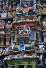 Rich Carvings on temple Gopuram (VinayakH) Tags: halasurusomeshwaratemple bangalore india ulsoor chola vijayanagaraempire kempegowda hindu shiva temple hinduism