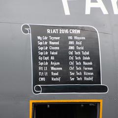 Lockheed C-130ar Hercules Pakistan Air Force crew (NTG's pictures) Tags: raf fairford riat2016 lockheed c130e hercules pakistan air force 4144