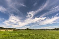 Sky Genie (Flapweb) Tags: addison vermont sky clouds meadow