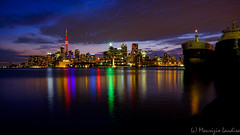Toronto Evening (mlaudisa) Tags: toronto pier night city skyline dusk sunset dark lake ontario polson polsonpier