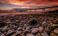 Clevedon Pier (Mark O'Grady // Photography) Tags: clevedon pier somerset rocks sunset hitech formatt filters neutral density sky red sun set
