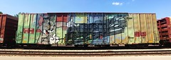 Nas (quiet-silence) Tags: graffiti graff freight fr8 train railroad railcar art nas nme wholecar boxcar wrwk wrwk1631