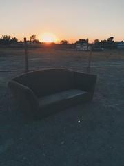 Couch (manofmanyframes) Tags: lancaster lancasterca cityoflancaster av antelopevalley desert desertlife desertlandscape desertphotography desertvibes vscocam vsco vscogood iphoneography goldenhour sunset sundown warmtones couch